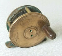 VINTAGE BRASS SCOTTISH FISHING REEL - 2 1/4 INCH-  ROBERTSON GLASGOW