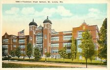 1920s Printed ostcard; Yeatman High School, St. Louis MO Unposted