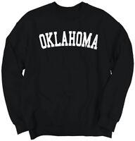 Oklahoma Athletic Student Gym Vacation OK  Crewneck Sweat Shirts Sweatshirts
