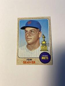 1968 Topps Tom Seaver #45 Tops 1967 Rookie Allstar Baseball Card