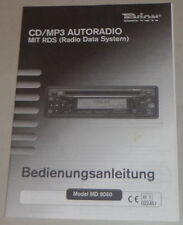 Operating Instructions Tevion CD/MP3 Car Radio with RDS, Model Md 9060