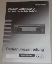 Betriebsanleitung Tevion CD / MP3 Autoradio mit RDS, Model MD 9060