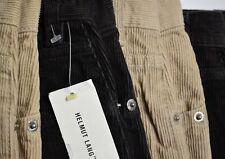 HELMUT LANG Vintage Cotton Jeans Italy Velvet Pants Cotton Trousers Beige Black