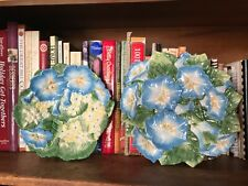"""Fitz & Floyd """"Spring Fling Florals� Canape Salad Plate & Bowl Morning Glory"""