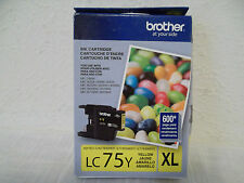 Brother 1-Pack Yellow Ink Cartridge MFC-J6510DW J825DW LC-75Y XL LC75Y XL NEW