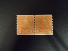 Scott 723 1932 6c Garfield Coil Issue Mint Joint Line Pair Fine Og Lh Cat $82.50