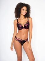 SALE! Ann Summers THE GIVEAWAY Plunge BRA + BRIEF SET, Pink/Black *NEW* RRP£50
