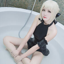 Fate Saber Black Cosplay Costume Swimwear Sexy SUKUMIZU Swimsuit US SHIP