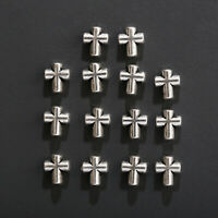 5/10 DIY Silver Alloy Cross Metal Loose Spacer Beads Craft Jewelry Making 7*6mm