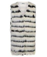 Women Sleeveless Faux Fur Gilet Ladies Waistcoat Outerwear Coat Jacket Size 8-14