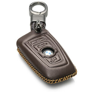 Vitodeco Leather Keyless Smart Key Fob Cover for BMW 1,3,4,5,6,7 Series, X1, X3