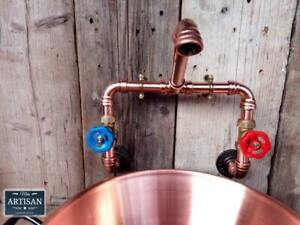 Wall Mounted Copper Pipe Mixer Faucet Taps