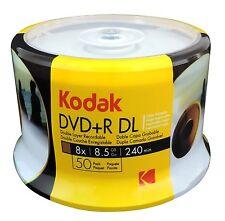 Kodak Brand White Inkjet Printable DVD+R DL Dual Layer Blank Disc Wholesale Lot