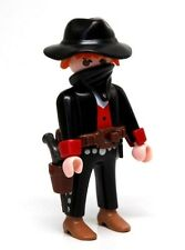 Playmobil Figure Western Bandit Outlaw Train Robber w/ Hat Gun Bandana 3814