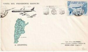 Repubblica 1961, Visita del Presidente Gronchi in Argentina - First Dai Cover -