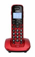 Olympia Komfort Schnurloses ECO-Mode DECT Telefon Extra große Tasten rot