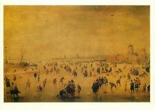Painting drawing Postcard Hendrick Avercamp Winter with skaters