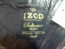 IZOD MIDNIGHT Saltwater WASH Pocket T-Shirt  Logo on Pocket 100% Cotton SMALL