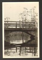 Unused Postcard Real Photo Observation Bridge Okefenokee Swamp Park Georgia GA