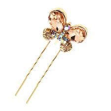 Or Champagne Papillon chignon épingles à cheveux accessoires tête déco HA220