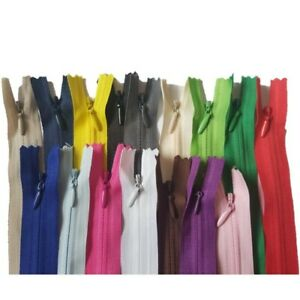 ZIPS, zippers Material SIZE 28 40 45 50 60 cm, Invisible Concealed Zip