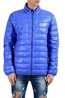 Emporio Armani EA7 Men's Blue Duck Down Full Zip Light Parka Jacket US 3XL IT 58