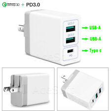 3-Port PD3.0 + USB QC3.0 Fast Charging Charger for Samsung Galaxy S8 SM-G950U