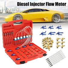 New Diesel Injector Flow Meter Test Kit Common Rail Adaptor Fuel Tester Set FAST