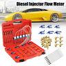 Diesel Injector Flow Meter Test Kits Common Rail Adaptor Fuel Tester Set FAST