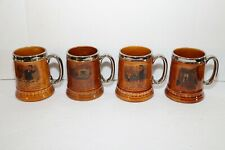Vintage Lord Nelson Pottery England  Mug Beer Steins Set of 4