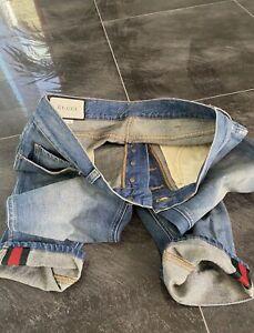 Gucci Jeans Herren, Original, Neu ohne Etikett, Größe 31, Blau