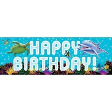 OCEAN PARTY LARGE BANNER HANGING DECORATION FINDING NEMO DORY UNDER THE SEA