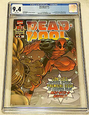 Deadpool #1 CGC 9.4 NM White, Marvel 1997, McGuinness, 1st T-Ray and Blind Al