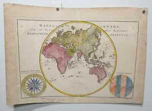 EUROPE AFRICA ASIA AND AUSTRALIA (NEW HOLLAND) 1787 MAP GLOBE ORIENTAL HEMISP...