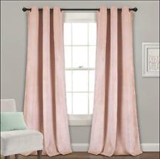 Prima Velvet Solid Room Darkening Window Curtain Panels Blush 38X84 Set