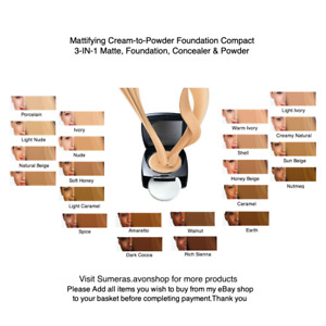 Avon True Colour/Flawless Cream-To-Powder FOUNDATION Compact SPF12 ~10g Free P&P