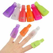 10Pcs Nail Art Soak Off Clip Cap Cover Plastic UV Gel Polish Remover Wrap Tools