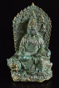 P6115: Japanese Copper Kannon sculpture ORNAMENTS object art work, Buddhist art