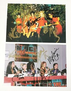 2 original vintage hand signed Spice girls autographs postcards World  movie