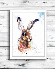 Hare ,Sale,Original ,Watercolour ,Print ,Card, Gift, Wildlife,Animal,Art, wall