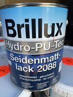 3 Liter Brillux Hydro PU TEC Seidenmattlack 2088 Farbton siehe  Deckel(19,99€/L)