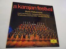 """A KARAJAN FESTIVAL , 12"""" 33rpm VINYL LP RECORD .1968 .CLASSICAL ,BERLIN PHIL."""