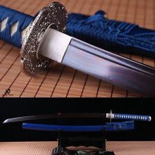 hand forged damascus folded steel blue blood blade japanese samurai katana sword