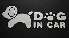 Cane in auto Decalcomania Vinile Adesivo Bianco Badge per CITROEN DS3 DS4 DS5 Cabrio Tiel