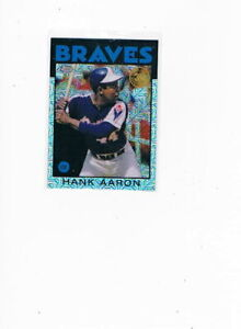 2021 Topps Series 1 Silver Pack Chrome 1986 Topps Hank Aaron #86BC-7