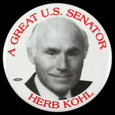 "1994-2006  Herb Kohl A Great US Senator Wisconsin 3"" Campaign Pinback Button"
