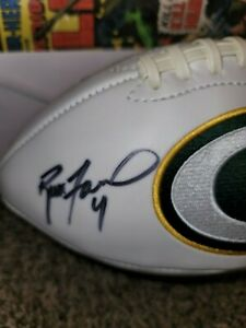 Brett Favre Autograph Green Bay Packers Football with COA