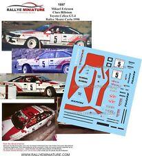 DECALS 1/43 REF 1697 TOYOTA CELICA GT4 ERICSSON RALLYE MONTE CARLO 1990 RALLY