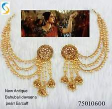 Indian Women Bridal Earrings Gold Plated Jewelry Antique Bahubali Pearl Earrings