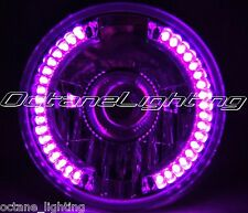 "7"" Projector Motorcycle Purple Pink LED Halo H4 Light Bulb Headlight For: Harley"